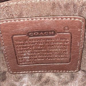 Coach Bags - COACH leather makeup bag in chocolate brown